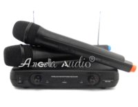 Wholesale Vhf Microphone System - Free Shipping ! Professional WR-206 Handheld Dynamic VHF Wireless Microphone System Mic Mike For Karaoke KTV Stage DJ Conference