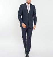 Wholesale Mens Pink Zipper Ties - New Arrivals Two Buttons Groom Tuxedos Peak Lapel Groomsmen Best Man Suits Mens Wedding Suits (Jacket+Pants+Tie) two-piece