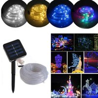 Compra Arredamento Solare-Multicolor 100 LED Solar Light String Lights Natale Solar Powered Rope Tube Led Light Strip impermeabile Decor Party