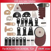 Wholesale Dremel Metal Cutting - 249 pcs oscillating multi tool saw blade accessories fit for multifunction electric tool as Fein power tool,Dremel etc,metal cut