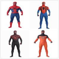 Wholesale Classic Spiderman Spandex Costume - Classic lycra spiderman zentai suits costumes cosplay halloween costumes