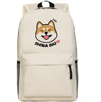 Wholesale Soft Dog Backpacks - Beige Shiba Inu backpack Cute dog school bag Doge daypack Hot schoolbag New game play day pack