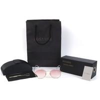 Wholesale Small Square Sunglasses - Polygon Clear Square Sunglasses Women Fashion Brand Design Lady Vintage Metal Small Frame Plain Sun Glasses UV400 YW039