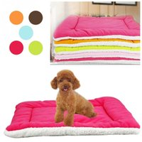 Wholesale Dog Warming Mat - Winter Warm Soft Kennel Pet Dog Mat Cushion For Cat Dog Bed Mat 5 Colors