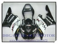 Black West ВПРЫСКА ABS BRAND NEW обтекателя KIT 100% FIT FOR YAMAHA YZFR1 1998 1999 YZF R1 98 99 YZF1000 YZF R1 1998-1999 годов # DU735