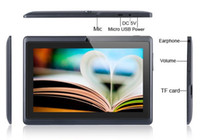 Wholesale cheapest dual core tablets online - Q87 inch A33 Quad Core Tablet Allwinner Android KitKat Capacitive GHz RAM GB ROM WIFI Dual Camera Flashlight Cheapest MQ13