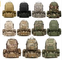 Wholesale New Molle Rucksack - Free Shipping 11 Colors New Large 50L Molle Assault Tactical Outdoor Military Rucksacks Backpack Camping Bag