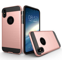 Wholesale S3 Protective Cases Hybrid - For Samsung S3 9300 S4 9500 S5 9600 S6 S6 edge Case Brushed Armor Dual Layer Protective Hybrid Cover Corner Cushion TPU + PC Design Case
