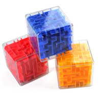 Wholesale Toy Marble Wholesalers - Novelty Cube Children Learn Education Toys Transparent 3D Three-dimensional Maze Marbles Adult Intellectual Decompression Magic Cube Toys