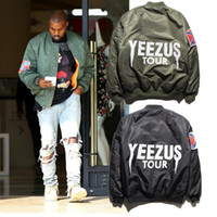 Wholesale Mandarin Suits - Fall-Clothing winter mens jackets coats MA1 Bomber jacket KANYE WEST YEEZUS jackets Sport Suit Parkas mens hip hop coats streetwear