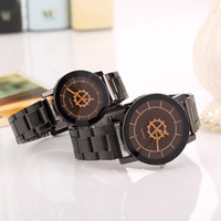 Wholesale Guns Sales New - Free shipping wholesale Foreign trade sales speed sell hot style Geneva watch ladies fashion Gun color steel strip to the table quartz watch