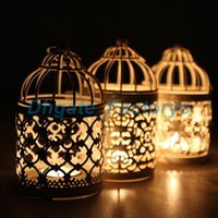 Wholesale wholesale hanging tea light holders - Candle Holders Hollow Lace Metal Modern Candlestick Creative Decor Loating Candle Holders Hanging Design Lantern Tea Light