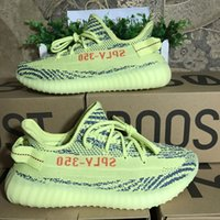 Wholesale Double Boxes Socks Receipt Keychain Boost Sply V2 Beluga Semi Frozen Yellow B37572 Blue Tint Grey Running Shoes Sport Sneakers