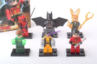 Wholesale Super Heroes Blocks Figure Toys Batman Spiderman Set No Box