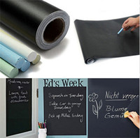 Barato Etiqueta Da Arte Do Decalque-45x200cm Chalk Board Blackboard Stickers Removable Vinyl Draw Decor Mural Decals Art Chalkboard Adesivo de parede para crianças Kids Rooms