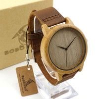 Wholesale Ladies Strapping Men - New Luxury Fashion Men Watches Wooden Wristwatch Bamboo Wood Cowhide Watch Strap BOBOBird Women Lady Couple Original Quartz Watches