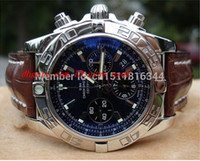 relojes cronomat al por mayor-Caja original Relojes de pulsera de lujo 44mm B01 Chronomat AB0110 Reloj con esfera azul precioso Relojes para hombres