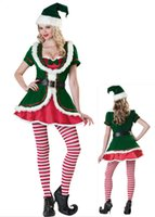 Wholesale Sexy Santa Claus Dress Fancy Dress Costume Christmas Ladies Dress Mrs Xmas Mascot Costumes B122