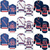 Wholesale Green New York Jersey - New York Rangers Jersey 22 Kevin Shattenkirk 76 Brady Skjei 86 Josh Jooris 89 Pavel Buchnevich 93 Mika Zibanejad Hockey Jerseys