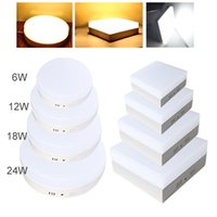6W 12W 18W 24W Square / Round Led Panel Light Surface monté leds Downlight plafond down 110-240V lampada lamp + LED Driver CE UL