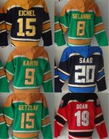 Wholesale Cheap Hoodie Jackets - Buffalo Sabres #15 Jack Eichel columbus blue jackets #20 brandon saad Cheap Hockey Hooded Stitched Old Time Hoodies Sweatshirt Jerseys
