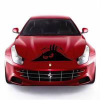 lustige reflektierende aufkleber großhandel-Reflektierende wasserdichte Mode lustig Spähen Monster Auto Aufkleber Vinyl Aufkleber dekorieren Aufkleber Auto Styling heißer Verkauf