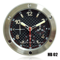Wholesale Cheap Big Dial Watches - Supler Clone Luxury Brand Design Cheap Wall Decoration Steel Wall Watch Clock Wallclock Black Dial Type Branded Big Luminous 7 Colors