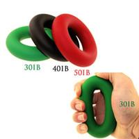 Wholesale Strength Grip Rubber Ring - Wholesale-3 PCS 7cm Sport Exerciser Muscle Power Training Rubber Ring Expander Gripper Strength Finger Ring