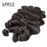 Wholesale best human hair wave resale online - Best A Peruvian Indian Malaysian Brazilian Body Wave Hair Bundles Unprocessed Brazilian Human Hair Weaves Can Bleach UP Year Life
