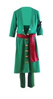 One Piece Roronoa Zoro Costume Green Cosplay Outfit