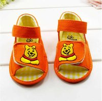Wholesale Pink Bear Shoes - Baby first walkers shoes baby sport shoes cotton shoes cartoon bear shoes color pink size 11-13cm 2016 kids shoes children shoes.1309