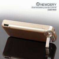 Wholesale External Backup Battery 5c - 4200mah External Backup Battery case For iphone SE 5 5c big capacity power case with high quality