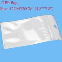 Wholesale 12cm cm quot quot Clear White Pearl Plastic Poly OPP Packing Zip Lock Retail Packages Jewelry Food Plastic Bag