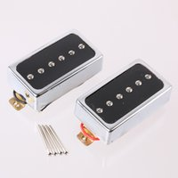 Wholesale Band Bridge - Chrome Neck And Bridge Humbucker Pickups Single Coil for Electric Guitar Part