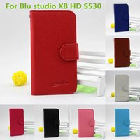 Wholesale Trio Cases - For ZTE Avid Trio metropcs For BLU Studio 5.5 HD S150L PU leather wallet pouch cover case with credit card slots