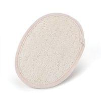 Wholesale Bath Sponge Scrubber - Wholesale-NHBR Beige Oval Bath Shower Face Loofah Scrubber Exfoliator Sponge Pad