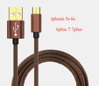 Wholesale Iphone 5s 3m Cable - 30 Pin USB Metal-plug Sync Data Charging Charger Cable 0.25m 1m 2m 3m for iphone 5s 6s 6plus