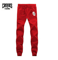 Wholesale Champagne Health - Crooks and Castles pants Changwei2016 Casual Pants Male Sports Trousers Straight Health Pants Male Slim Trousers Free shipping