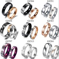 Wholesale Couples Ring Mixed Order - Mixed order stainless steel fashion jewellery hands ring lover free shipping