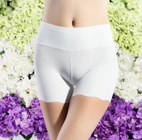 Wholesale High Waist Safety Pant - Wholesale-Plus size 2 color 2016 Summer Women Fashion Spandex Seamless Safety Pants Anti Emptied Breathable High-Waist Short Drop Ship