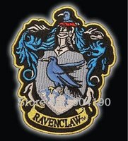 Wholesale Embroider Robe - HARRY POTTER RAVENCLAW Large Embroidered Robe Iron On Patch rock retro applique badge wholesale dropship 11.5cm x 9cm