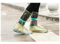 Wholesale Single Pairs Shoes - 100 pair Wholesale Outdoor Long Style Raincoat Set Cycle Rain Boots Overshoes Rainboots Travel Essentials Waterproof Rain Shoes Cover ZA0503