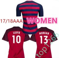 Wholesale Shirt United States Women - women USA Thailand Quality 2017 2018 United States Gold Cup soccer Jerseys DEMPSEY DONOVAN PULISIC Football LLOYD MORGAN HEATH shirts