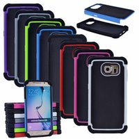 case executive - Hybrid Executive Armor Cases Heavy Duty iN PC Silicone Back Cove For Samsung Galaxy S6 S7 S8 Plus Case Note