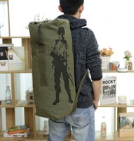 Wholesale Big Military Backpack - Wholesale-Men's Canves Travel Bag The Large Capacity Outdoor Sport Bag Military Enthusiasts Big Luggage Bag Light Gym Bag Army Backpack