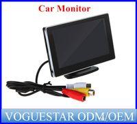 Wholesale Slim Car Dvd - 16:9 LCD Car Monitor for car and truck DVD VCD Camera VCR video Super Slim PAL NTSC ATP0071