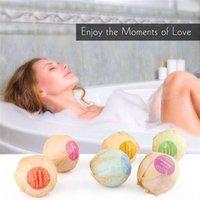 Wholesale Essential Oils Stress - 6pcs Organic Bath Bombs Bubble Bath Salts Ball Essential Oil Handmade SPA Stress Relief Exfoliating Mint Lavender Rose Flavor