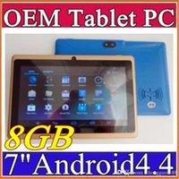 Wholesale Dual Stylus Pen - 10X 7 inch Capacitive Allwinner A33 Quad Core Android 4.4 dual camera Tablet PC 8GB 512MB WiFi flash Protective film capacitance pen E-7PB