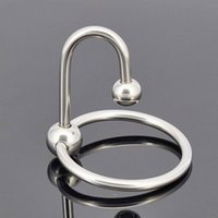 Wholesale chastity ring gay sex for sale - Group buy Stainless Steel Two bead Penis delayed gonobolia Ring Male time delay ring Glans ring Penis Plug Urethral Dilators Gay Sex Toy Adult product