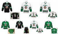 ingrosso maglia hockey universitaria-Alta qualità ! North Dakota University Sioux Hockey Maglie 7 TJ Oshie 9 Jonathan Toews 11 Zach Parise Blank Maglie con cuciture bianche